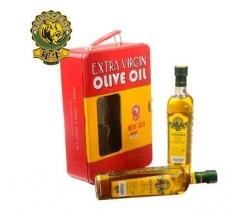西班牙犀牛橄榄油特级初榨1000ml豪华印铁礼盒