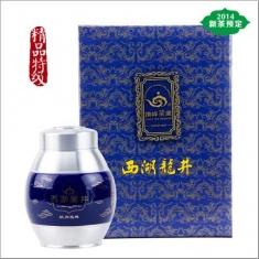 【顶峰】2015新茶预售 明前精品特级西湖龙井 绿茶 锡罐蓝款礼盒