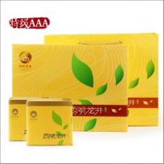 【顶峰】2015新茶预售 明前西湖龙井特级AAA 风系列黄款礼 250g