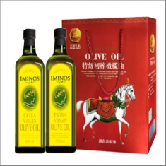 原装进口【米诺斯】特级初榨橄榄油750ml*2瑞马礼盒